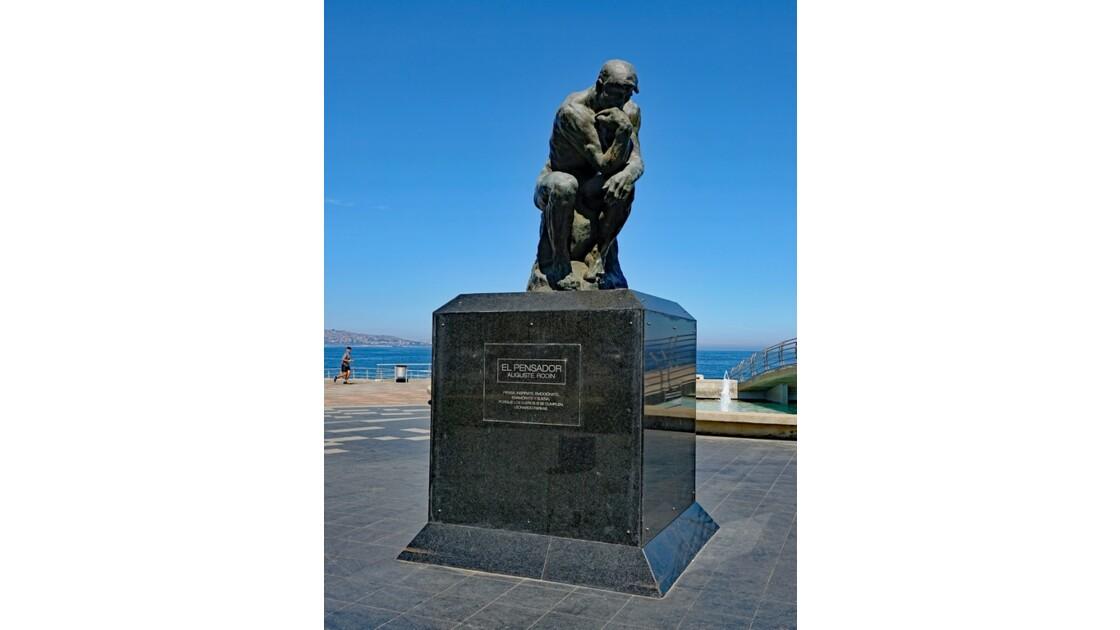 Chili Valparaiso le penseur de Rodin 1