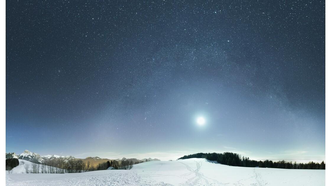 Neige et étoiles