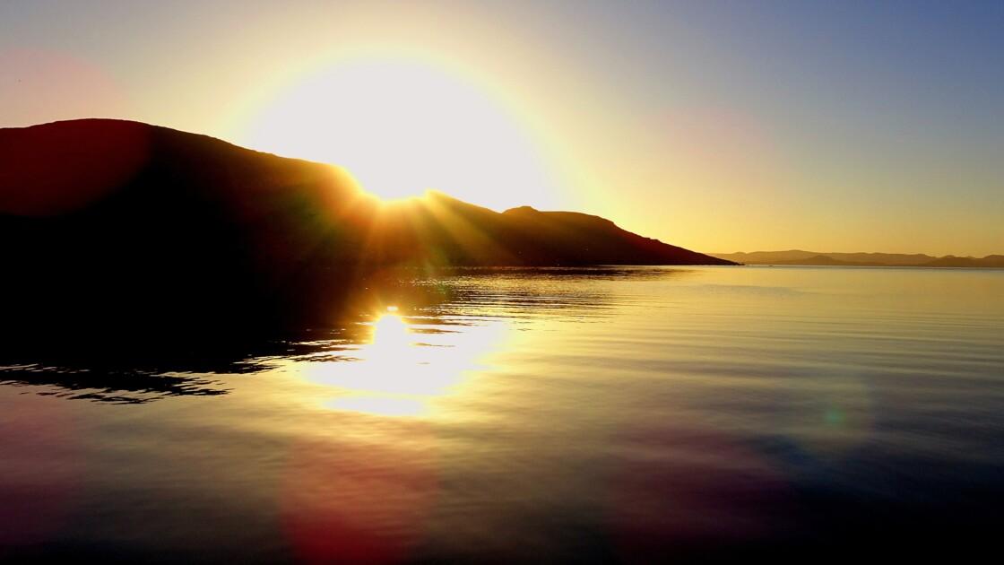 lac NASSER lever de soleil