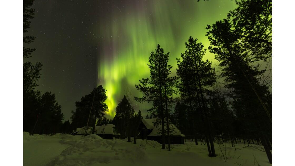 Aurores boréales : une nuit mémorable en Laponie