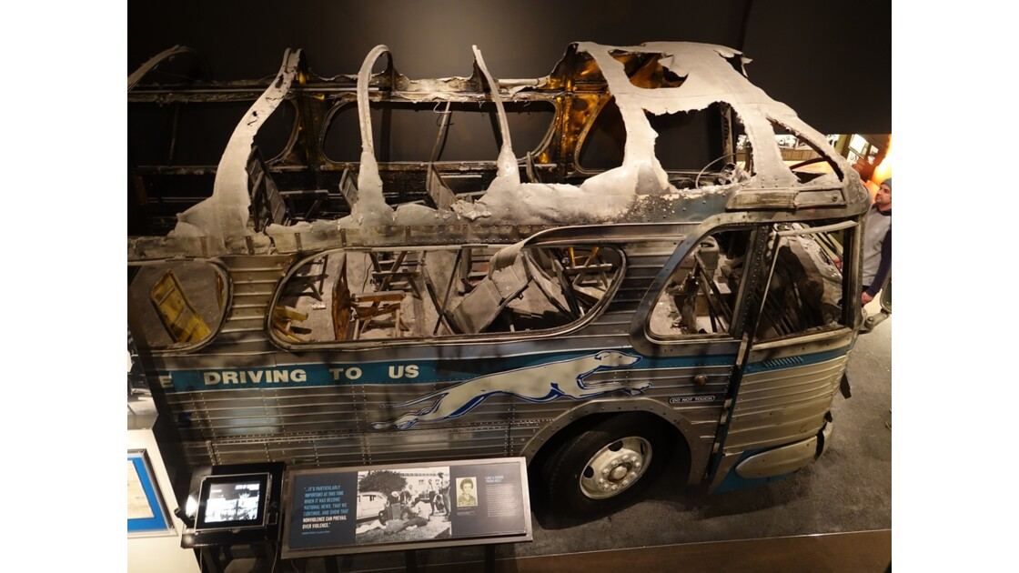 Memphis National Civic Rights Museum The Greyhound Bus 2