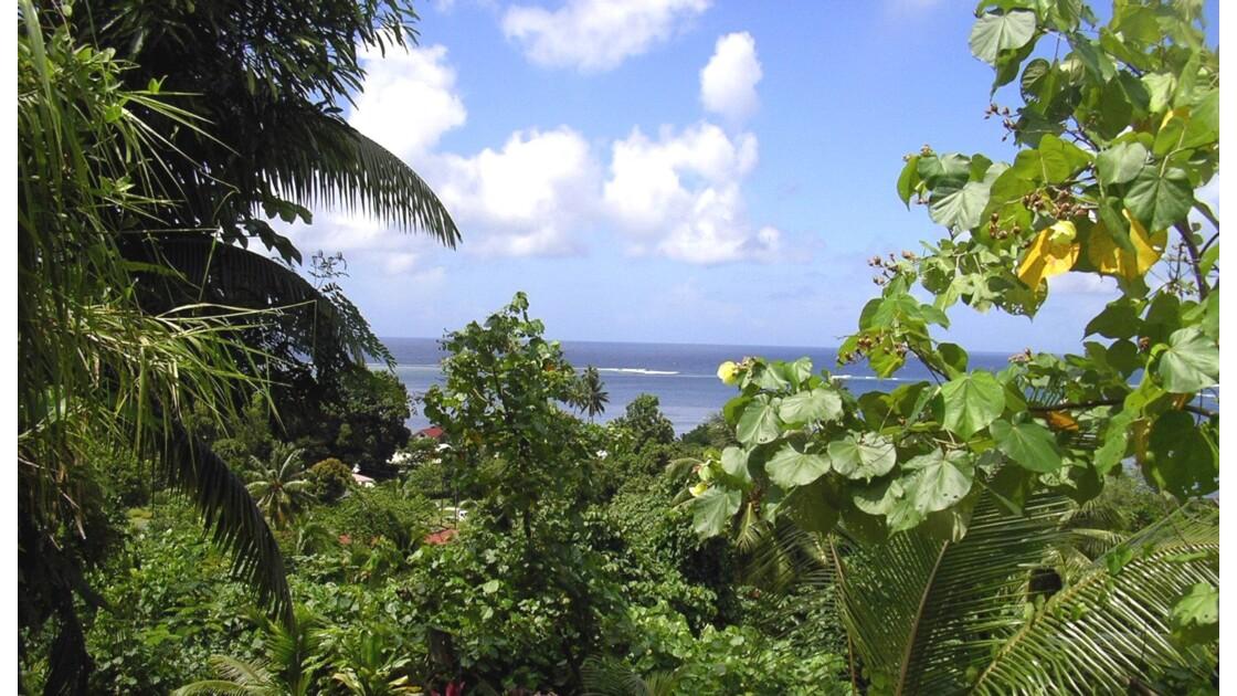 Vue mer du centre de l'île