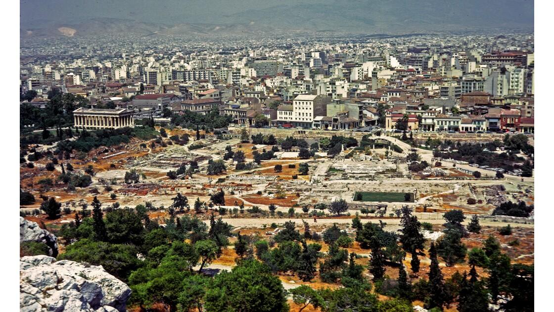 ATHENES Vue de l'aéopage