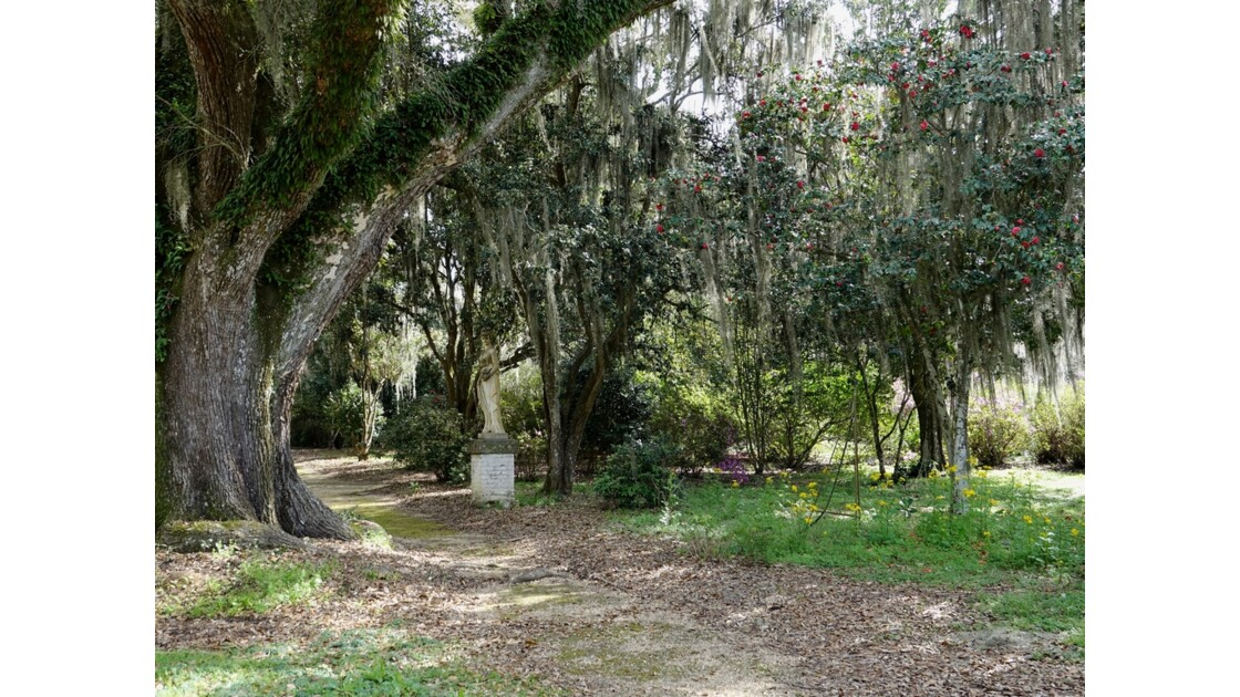 St Francisville Rosedown Plantation and Gardens Statues 1