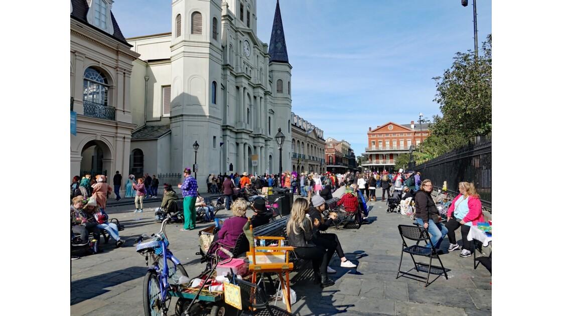 New Orleans Jour de Mardi-Gras Jackson Square 1