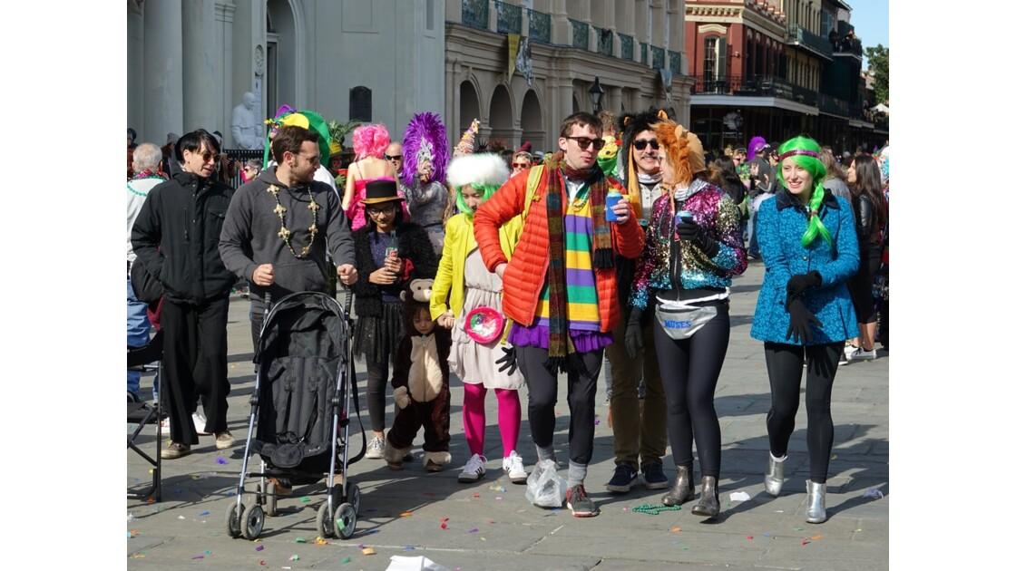 New Orleans Jour de Mardi-Gras Jackson Square 2