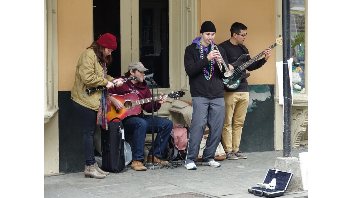 New Orleans Musiciens dans Royal Street