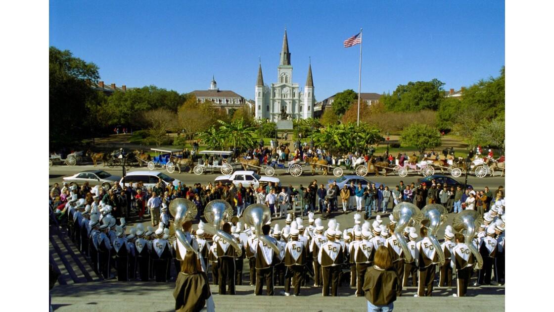 New Orleans Jackson Square avant le Carnaval