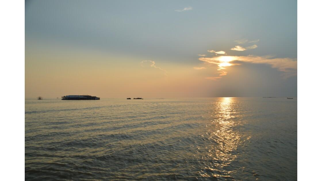 sunset at Tonlé Sap Lake