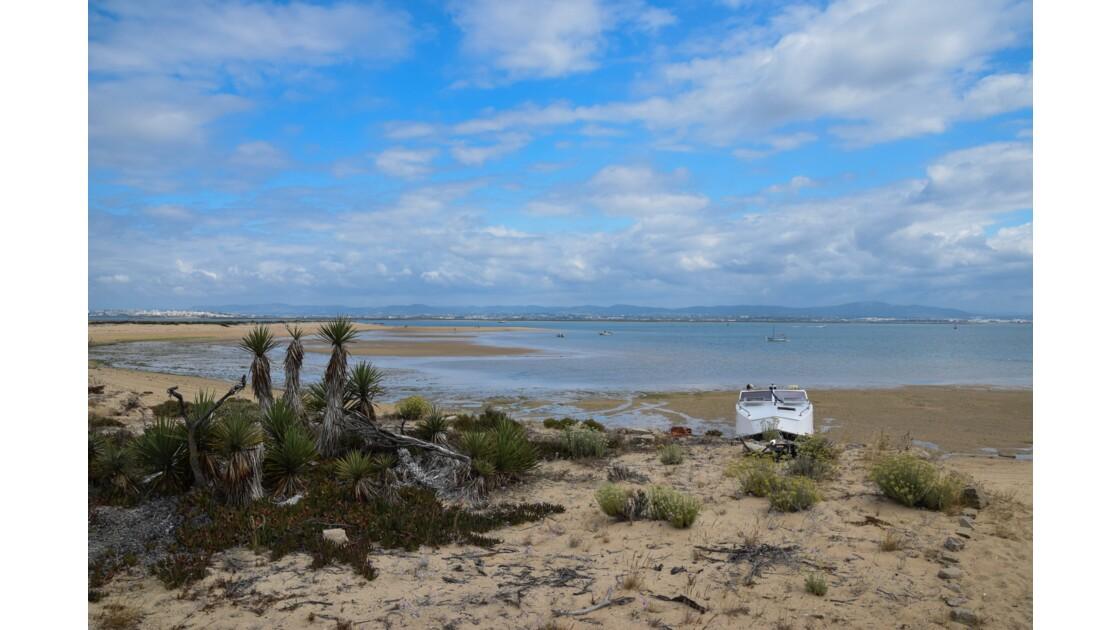 Ile Barreta au large de Faro, Juillet 2018, Portugal