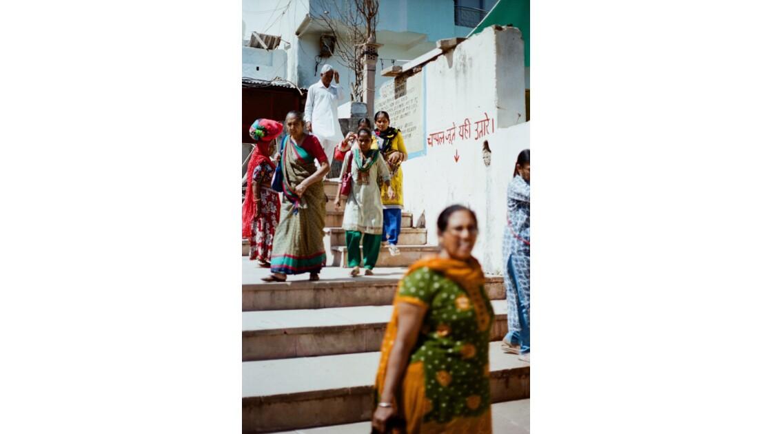 Sortie de temple à Udaipur
