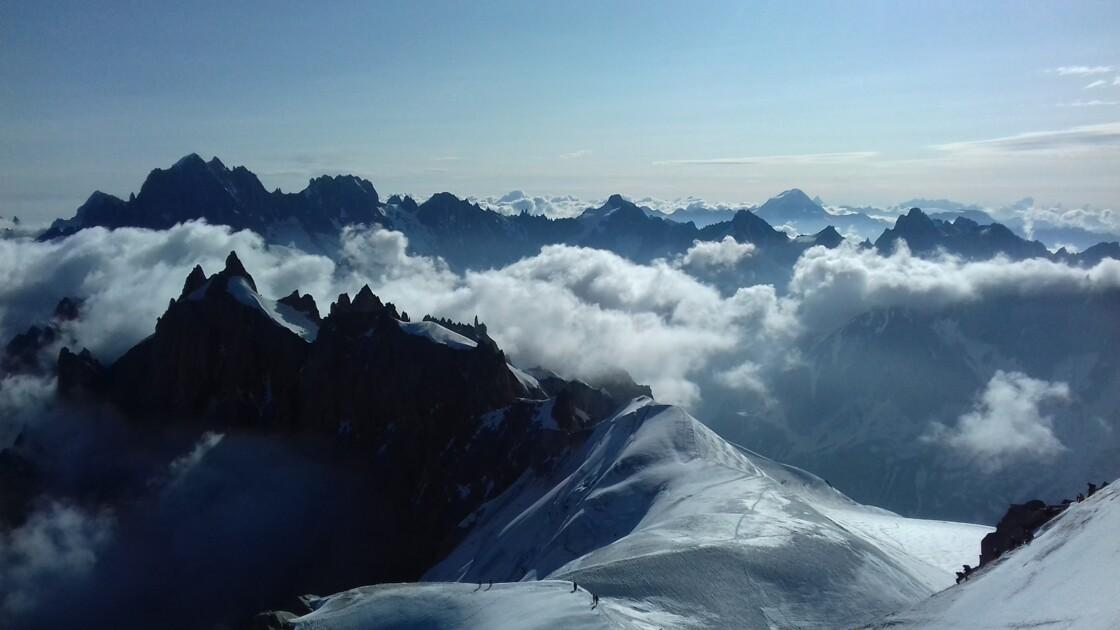 Les Alpes vues de l'Aiguille du Midi