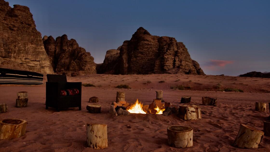 Veillée dans le désert du Wadi Rum