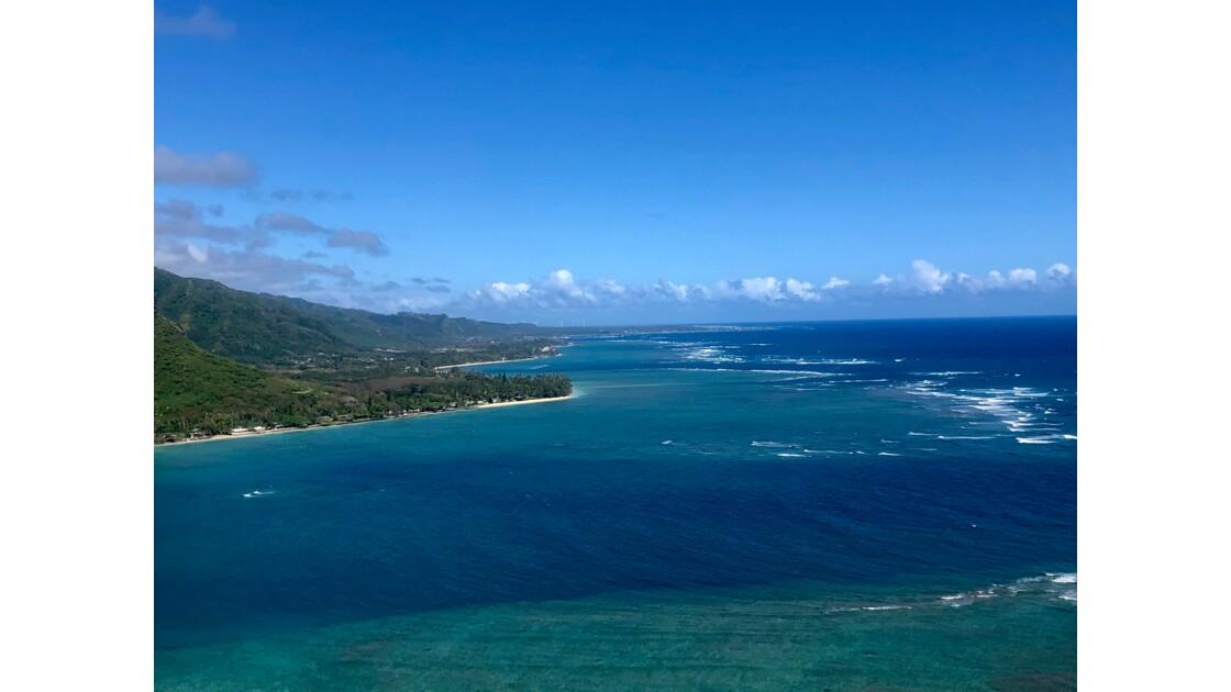 Côte nord de l'île d'Oahu à Hawaii