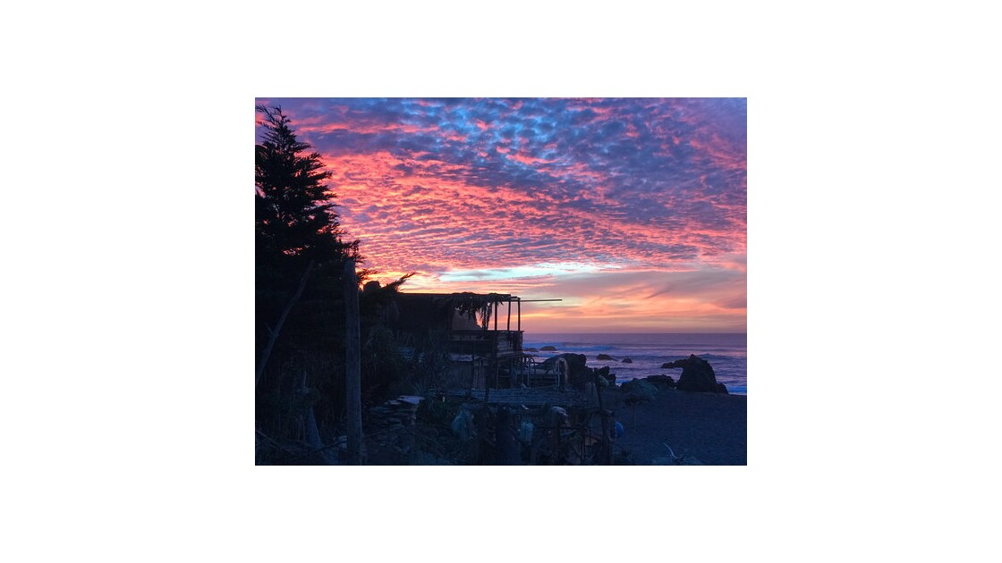 Le soleil s'en va à Punta de Lobos