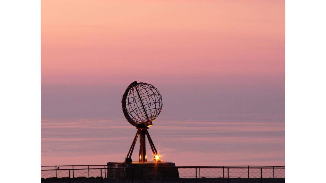 Coucher de soleil sur le Cap Nord
