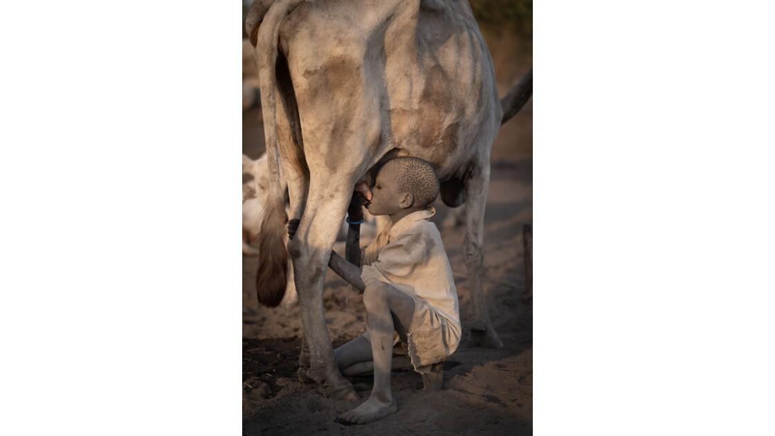 Jeune garçon de la tribu Mundaris, Soudan du Sud