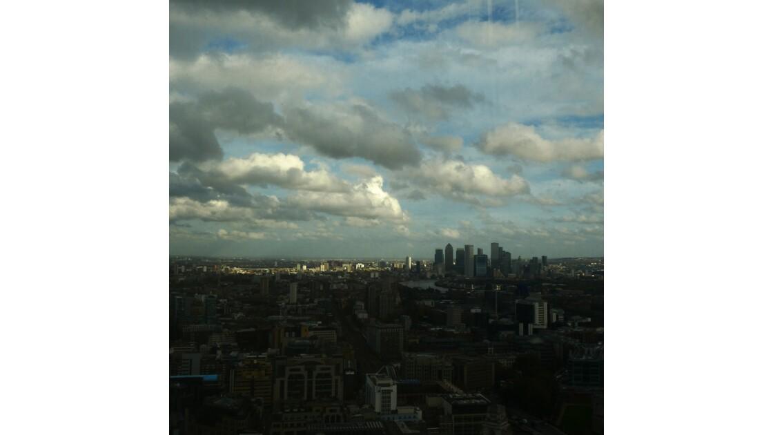 Vue sur l'est de Londres.