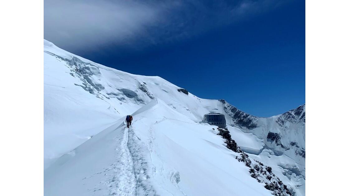 Arrivée au refuge du Goûter, Mont Blanc