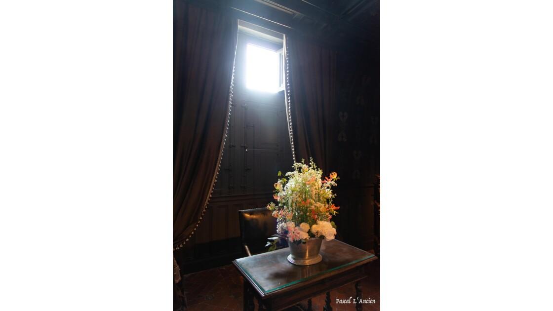 Château de chenonceaux et ses bouquets de fleurs