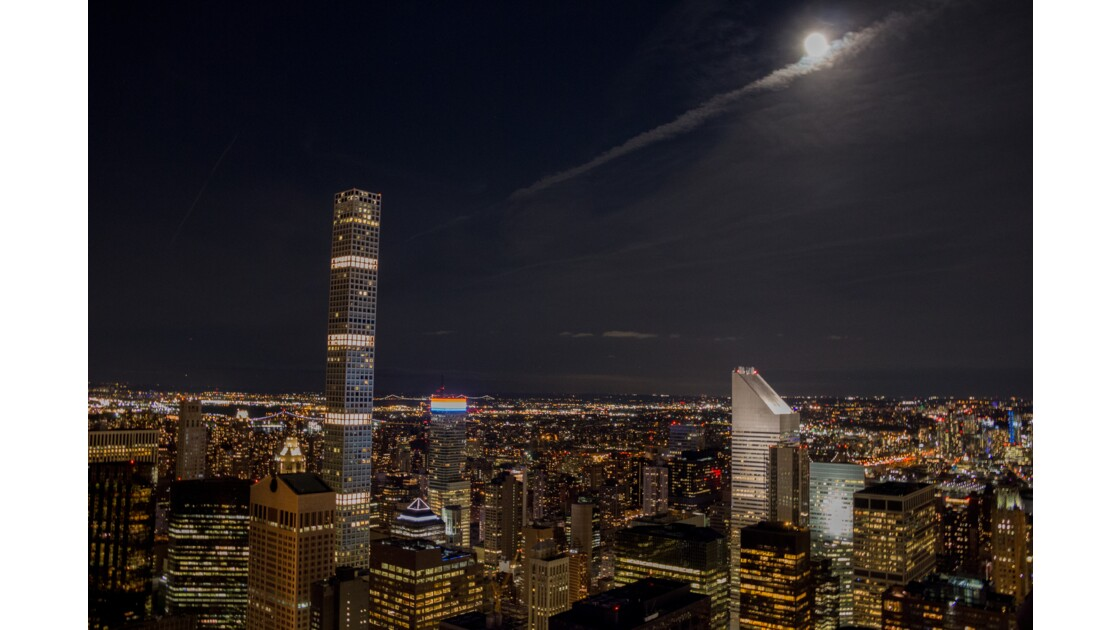 Top of the rock by Night