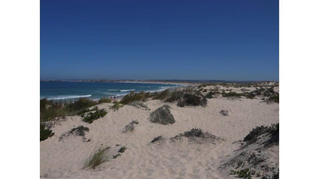 Plage et dune à Péniche