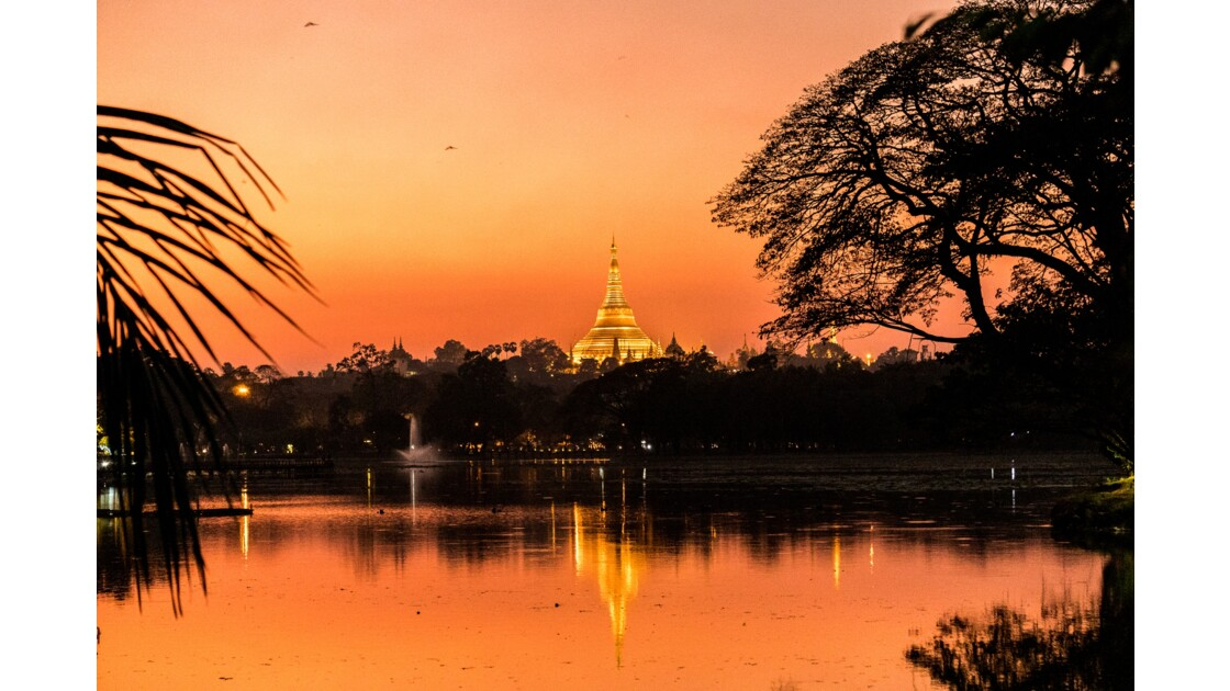 Sunset - pagode Shwedagon