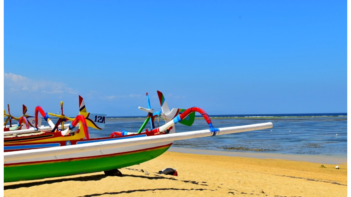 Fishing Boats in Sanur, Bali