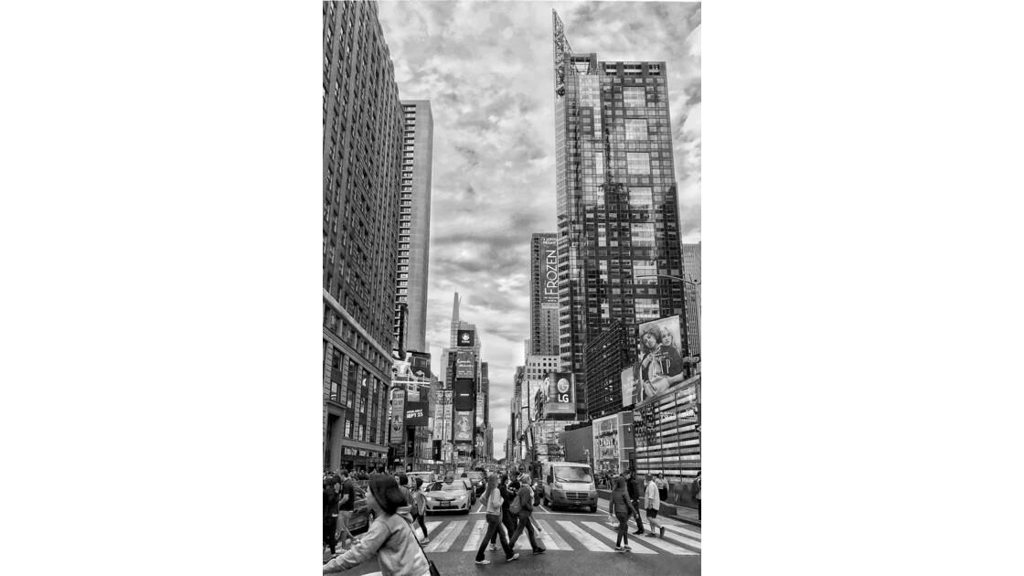 Time square en noir et blanc