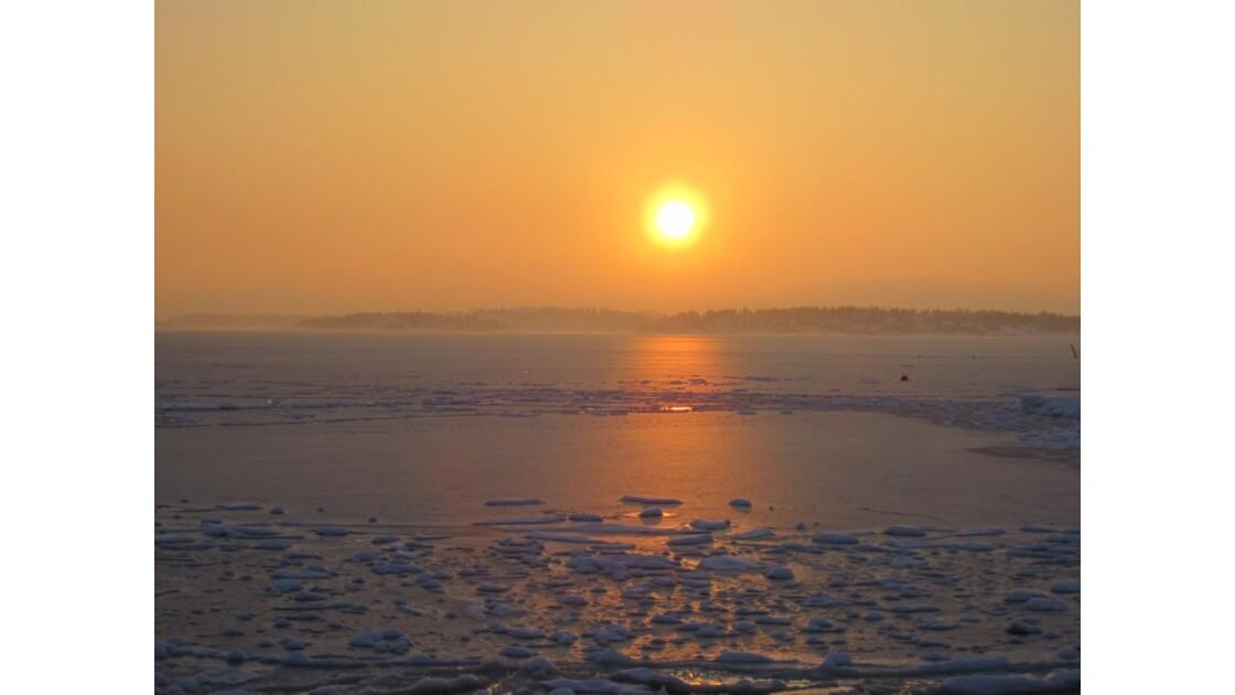 Coucher de soleil à Oslo
