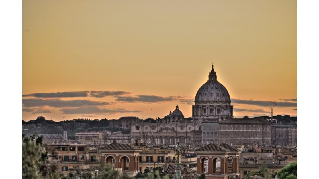 Coucher de soleil sur Rome