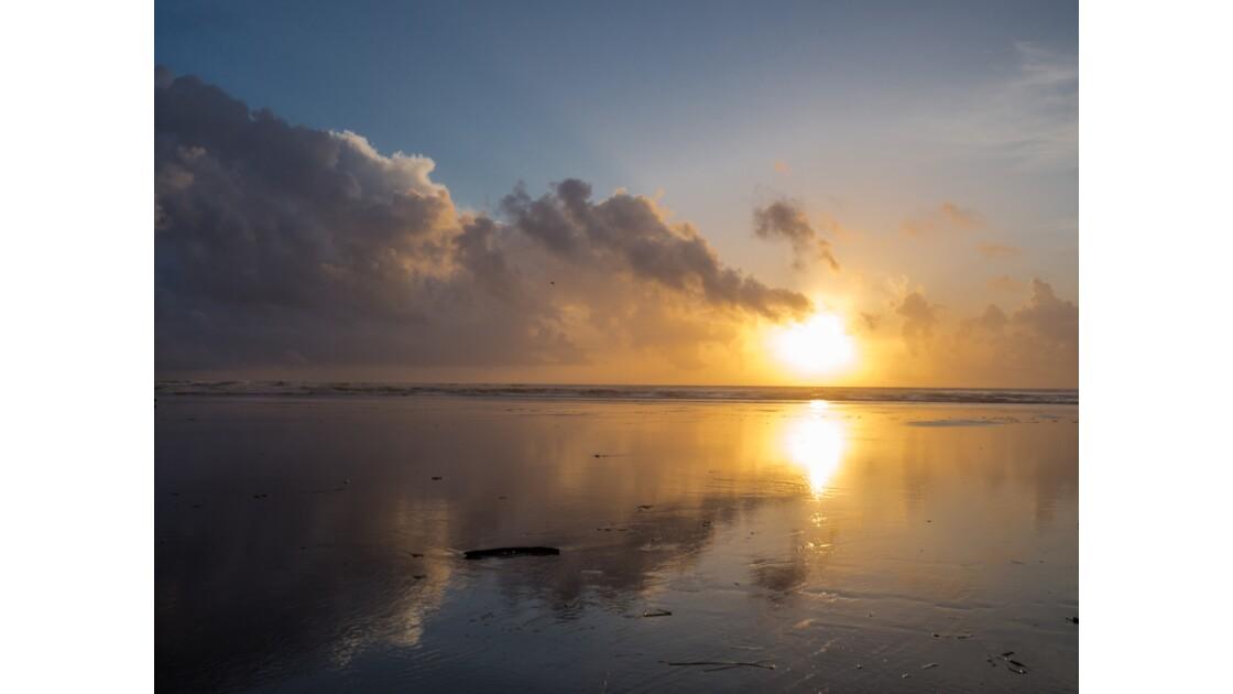 Seaside et ses lumières à la tombée du jour