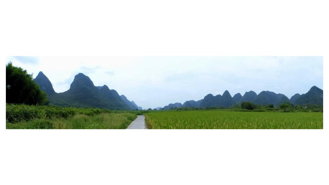 Le long de la rivière du Yulong