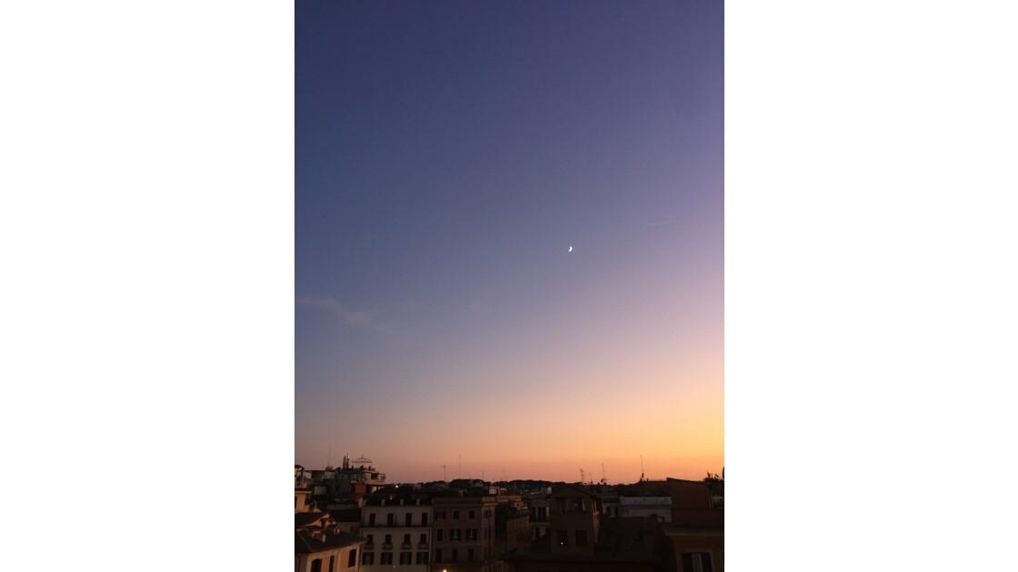 Coucher de soleil sur la Piazza di Spagna