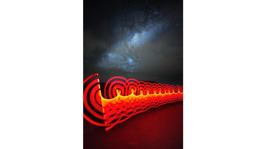 Seance Voie Lactée et LightPainting au piton de la Fournaise