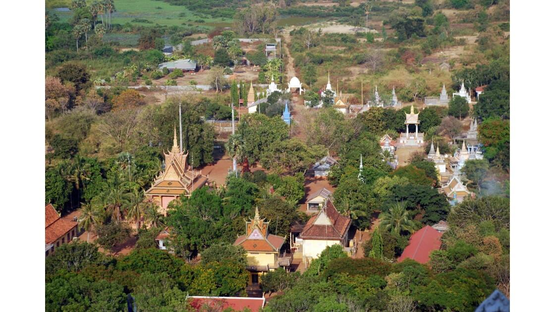 Vue générale sur la plaine de Battambang