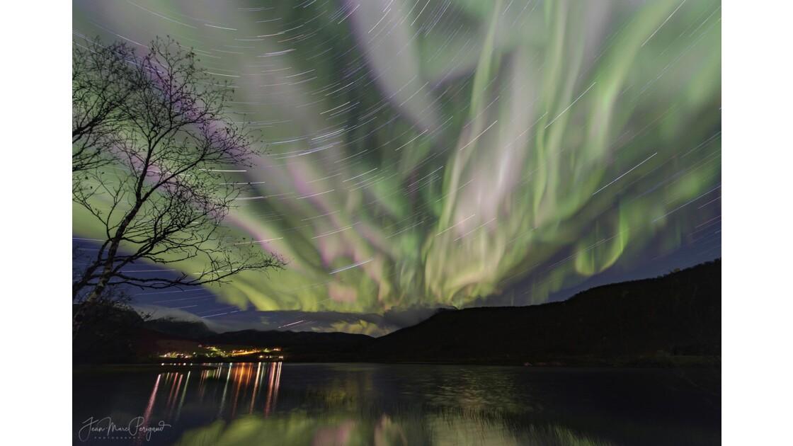 Aurore boréale exceptionnelle sur Senja - Norvège