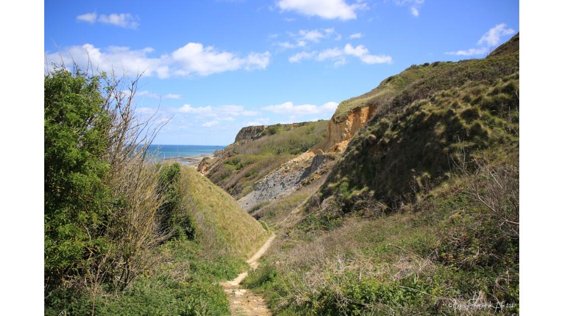 Eboulement de falaise sur la cote Normande