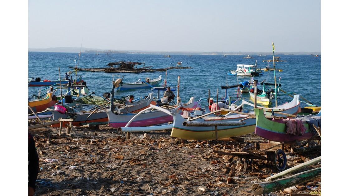 Les bateaux du port de Tanjung Luar