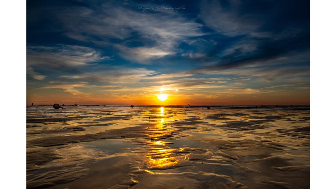 Coucher de soleil de la Côte d'Opale