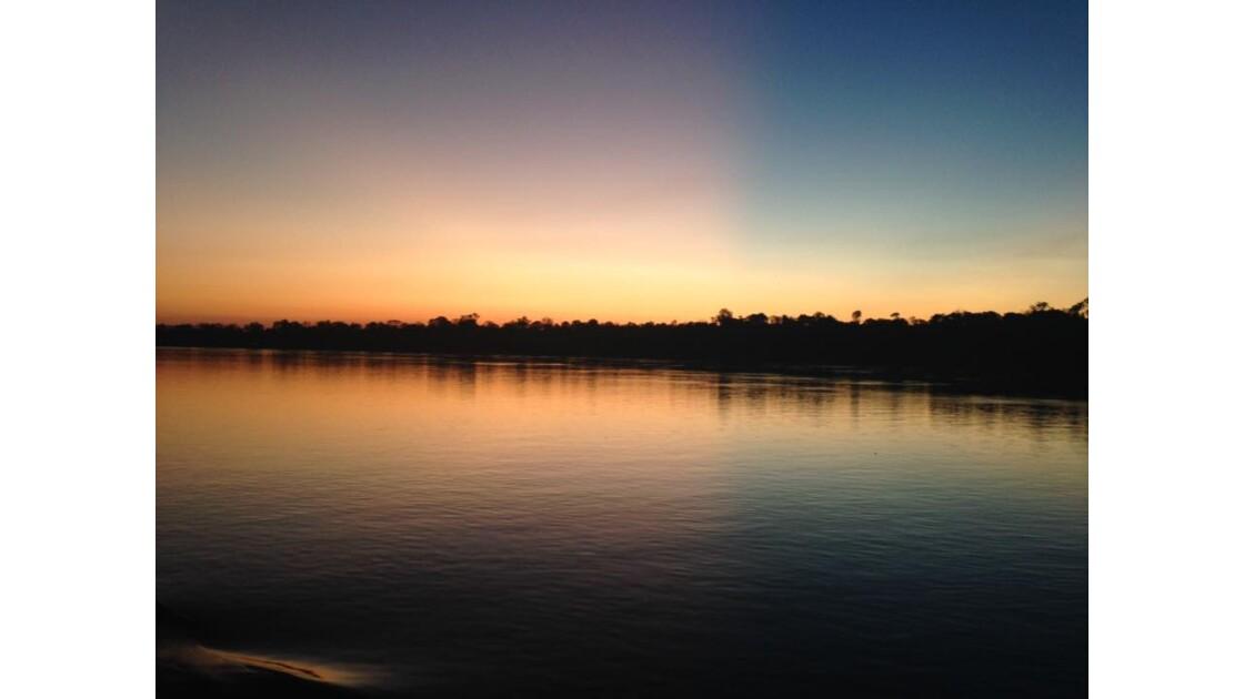 Couché de soleil Brésil Amazonie