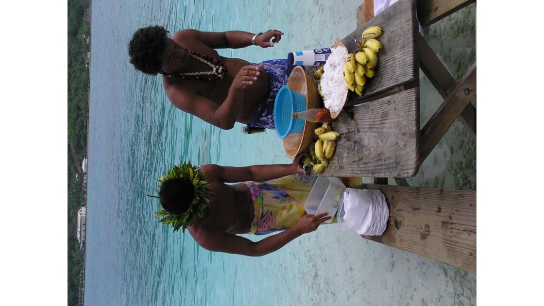 Préparation du poisson au lait de coco
