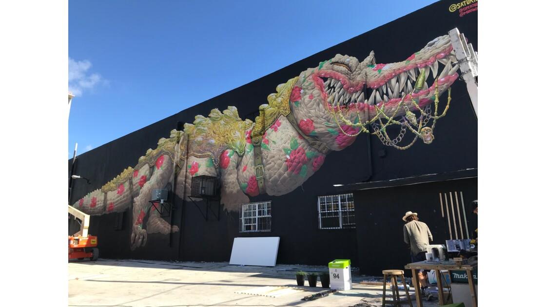 Wall Street Art Fresque murale (Wynwood, Miami, USA)