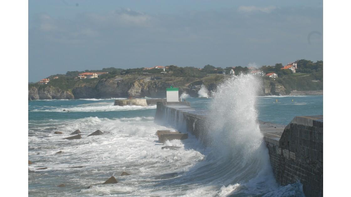 grandes marées cote basque