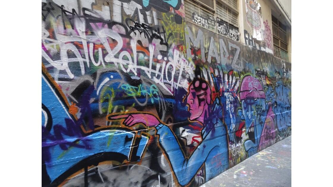 Sur les murs de Melbourne