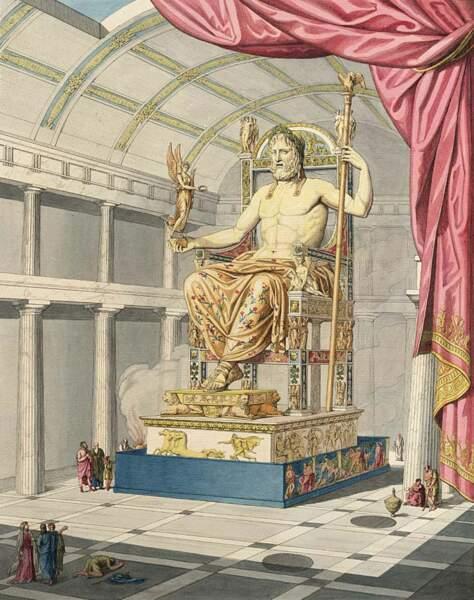La statue chryséléphantine de Zeus à Olympie