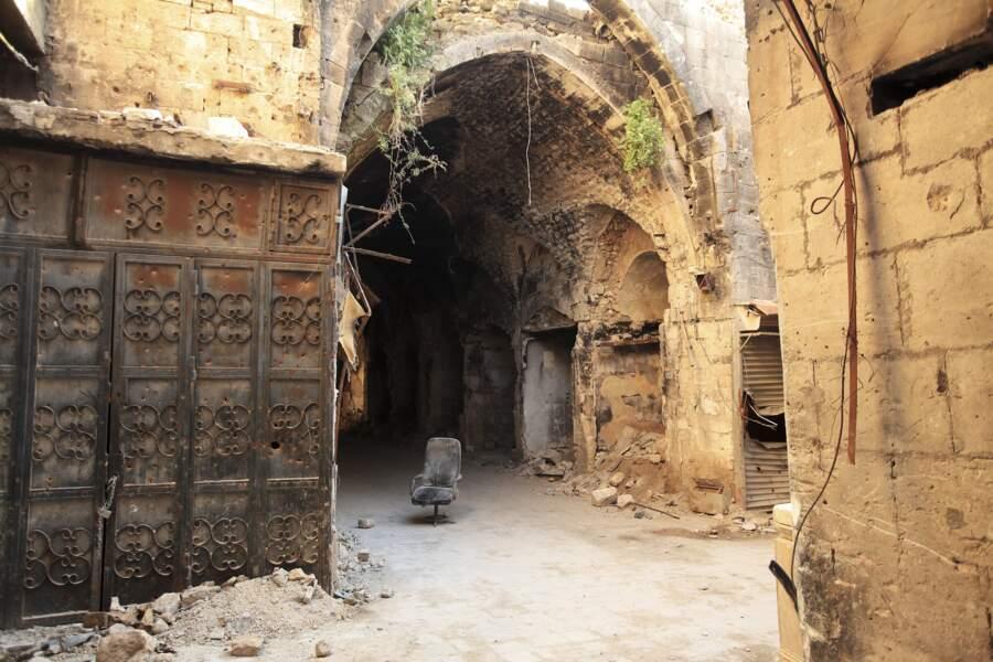 Ce qui reste du souk d'Alep