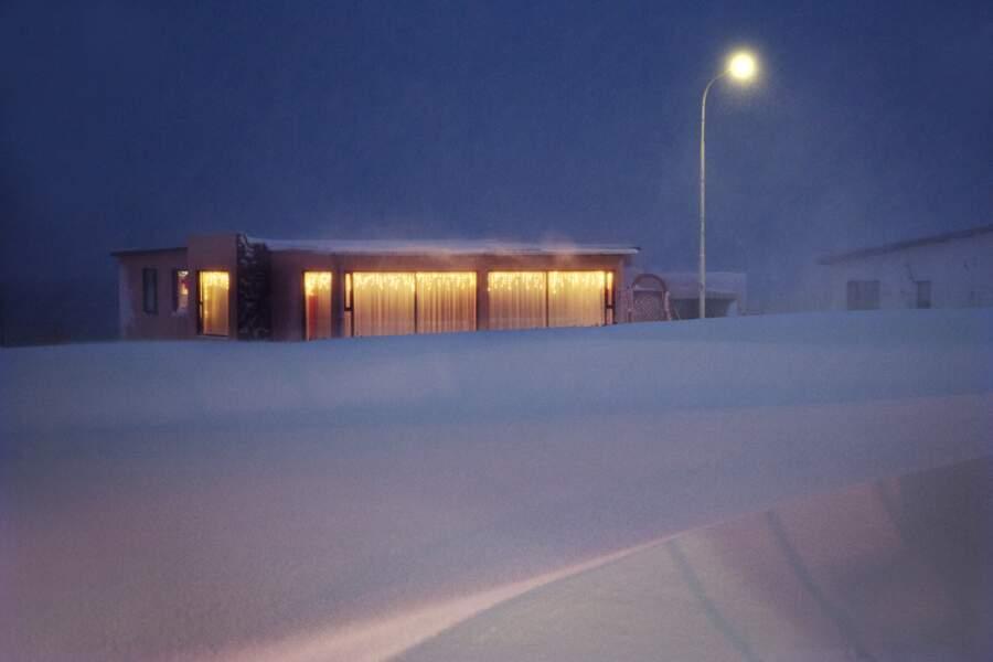 Avant le passage du chasse-neige matinal, à Suðureyri