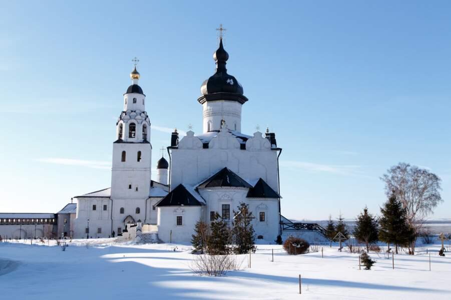 Cathédrale et monastère de l'Assomption de l'île-village de Sviajsk, en Russie
