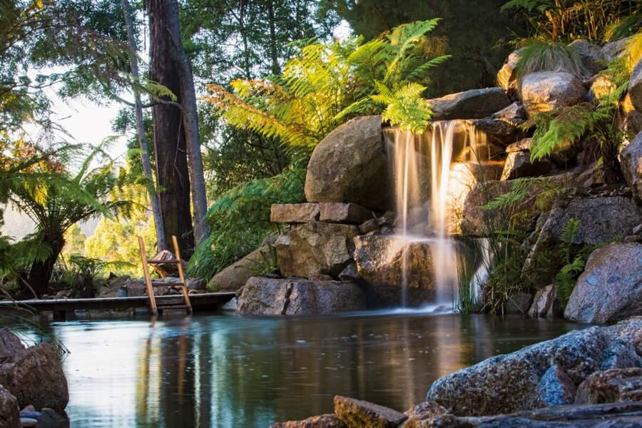 Le jardin de Phillip Johnson, Olinda, Victoria, Australie